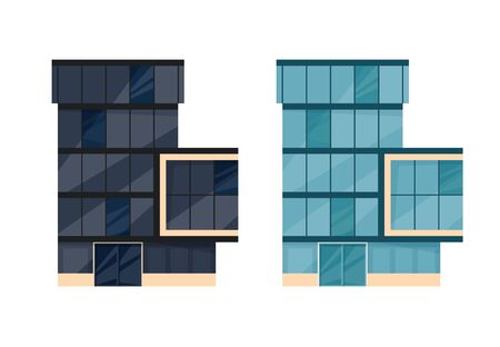 Bank exterior. Cityscape with facade of financial or other administration building. Vector illustration in flat style. Banque d'images - 131854310