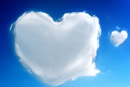 heart shaped clouds in the sky Love supernatural photo