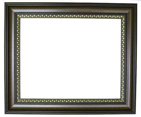 imagery: brown frame isolate on white background Stock Photo