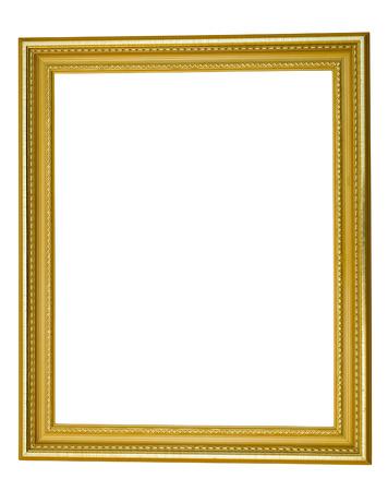 gilded: gilded frame on white background isolate deluxe Stock Photo