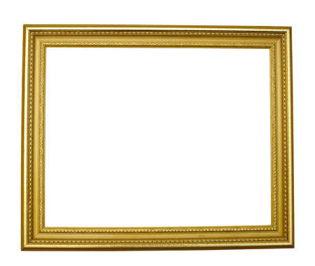 gilded frame on white background isolate deluxe Stock Photo