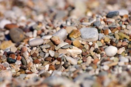 Colored pebbles at the coas of Mediterranean sea  Close-up photo