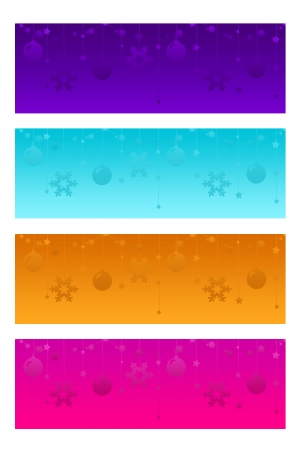 Four different christmas headers for web photo