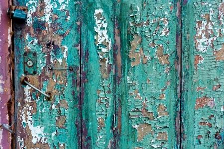 cracky: Green cracky grunge door of Wood boards