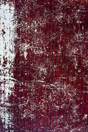 scuff: Wood crack red-white grunge texture of wall Stock Photo