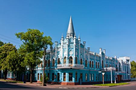 旧スロビヤンスキーホテルの建設、現在は銀行