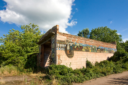 Abandoned building of pig farm in the Ukraine Editorial