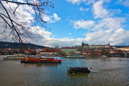 Spring View of Prague Castle in Czech Republic Editorial
