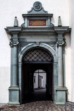 Entrance Portal in the Castle of Lithuanian Grand dukes, Vilnius, Lithuania