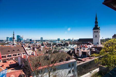 Old city center of Tallin, Estonia, Europe