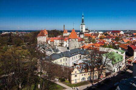 Panorama of old city center of Tallin, Estonia. Europe
