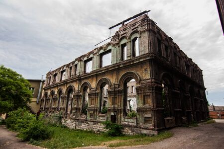 Old abandoned synagogue in Mariupol, Donetsk oblast, Ukraine