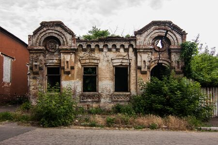 Old abandoned building in Mariupol, Donetsk oblast, Ukraine Stock Photo