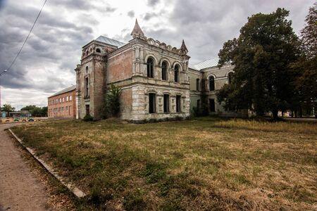 Abandoned building of Zlatopil gymnasium, Kropyvnytskyi, Ukraine Stock Photo