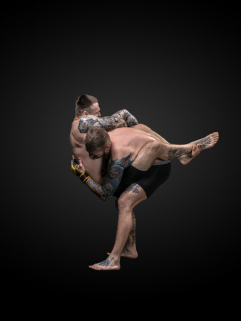 wrestlers: fighters mma boxing isolated punch wrestlers tattoo