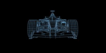 racing car 3d rendering illustration Banco de Imagens