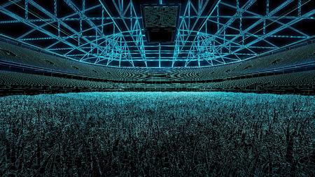american football soccer stadium 3D draft Banque d'images - 100702239
