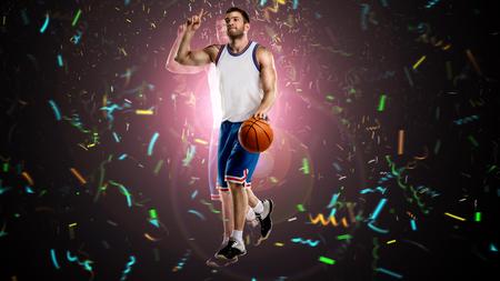 one basketball player on selebrating