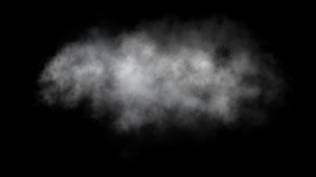 Abstract fog or smoke move on black background Banco de Imagens