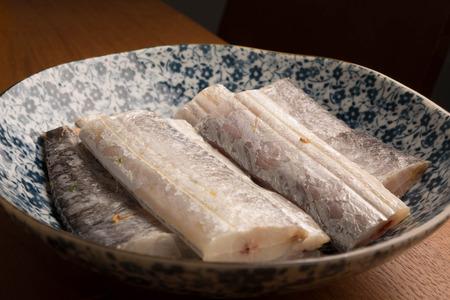 raw fish slice Stok Fotoğraf