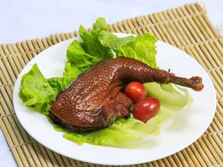 braised duck drumstick Stock Photo
