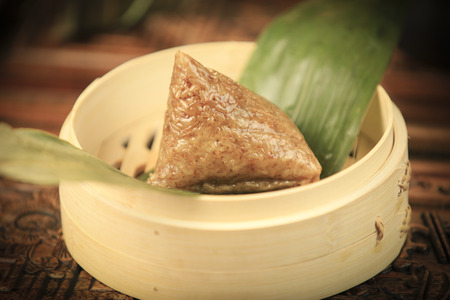 Dumpling in a bamboo basket