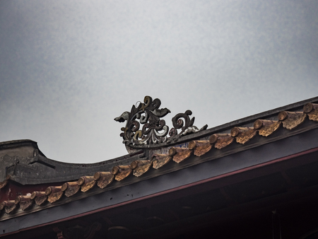 Ancient chinese building roof