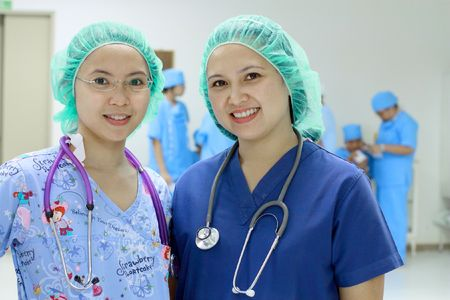 asian nurses in a hospital setting