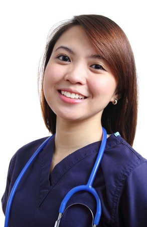 Portrait of a young successful asian nurse