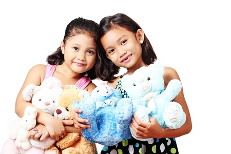 Young kids with teddy bears. 版權商用圖片 - 15757120