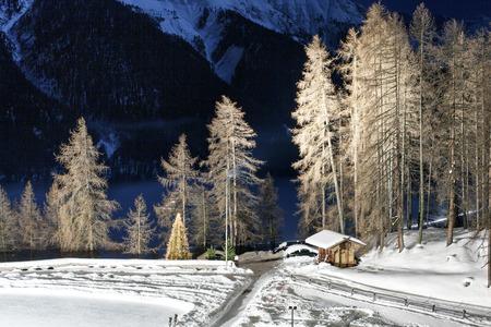 A beautiful landscape in the alps Switzerland