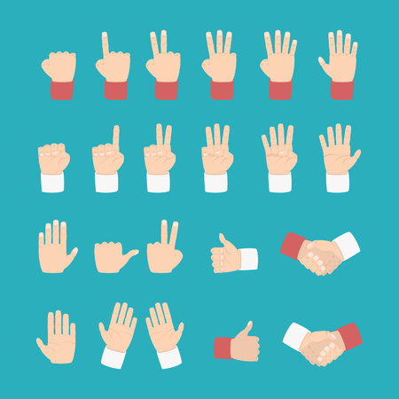 hand expression with various style - vector