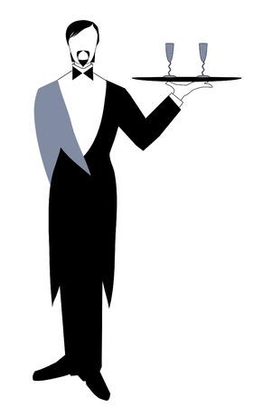 snob: waiter