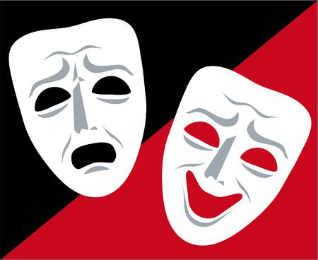 mask theater  イラスト・ベクター素材