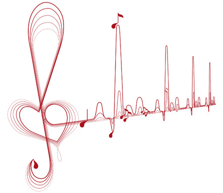 music, pulse Illustration