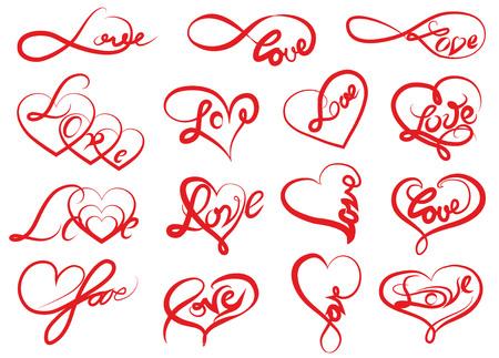 Hart met een inscriptie op de dag van de geliefden