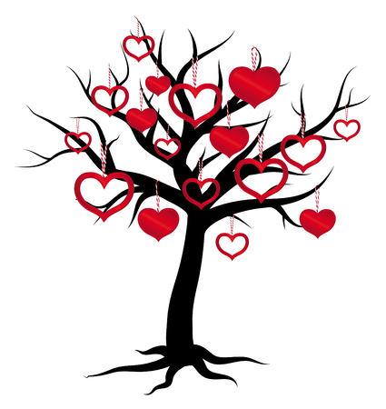 family tree, insert your photos into frames, Photos for Valentine's Day