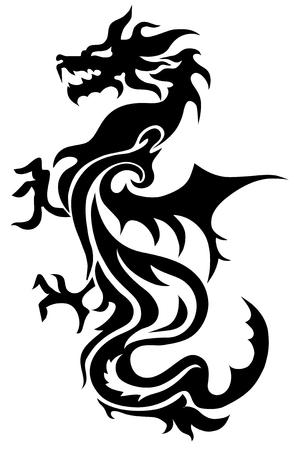 Dragon china zodiac symbols, tattoo