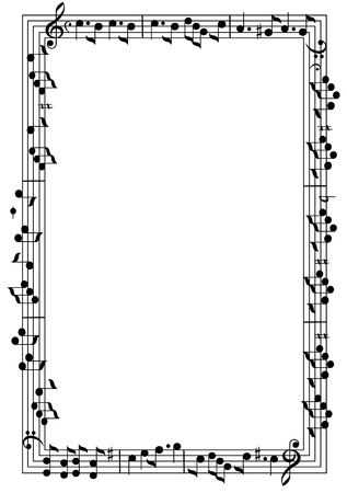 Cadre de thème musical Banque d'images - 55853457