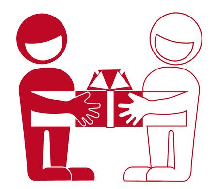 encouraging: Presentation of gifts, greetings, reward, help, friends