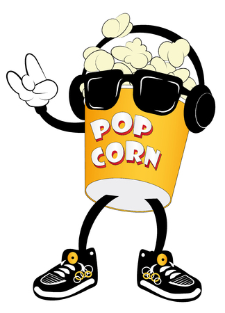 corne: Popcorn for movie theater and cinema.