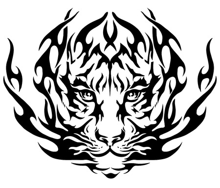 tiger image, design tattoo, emblem