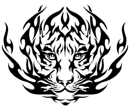 la imagen del tigre, diseño del tatuaje, emblema