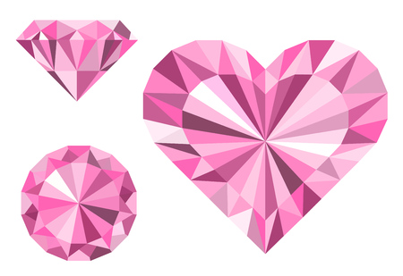 shiny hearts: Diamonds, heart, love. Jewelry. The image for a wedding, jewelry salon, invitations, business cards.