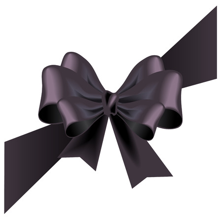 Vector funeral card with black ribbon
