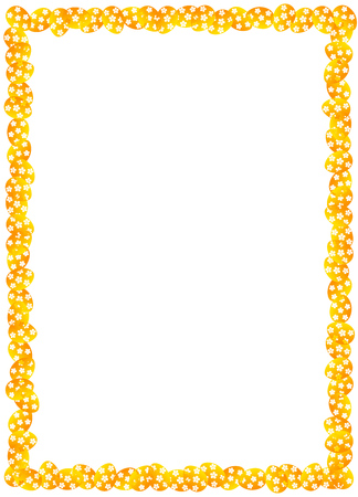 Frame for congratulations. Easter with eggs Illustration