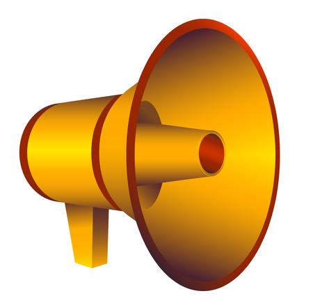 Megaphone, isolated loudspeaker