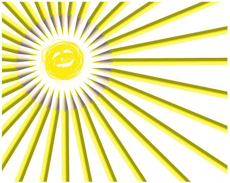 Painted sun. Smile Illustration