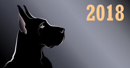 Dog, the symbol of the Chinese New Year 2018