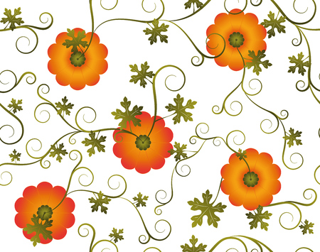 background, pumpkin, seamless.  イラスト・ベクター素材